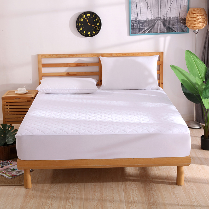 160x200 Terry Quilted Bamboo Fiber Anti-mite Bed Matress Pad Breathable Waterproof Mattress Protector Cover for Bed