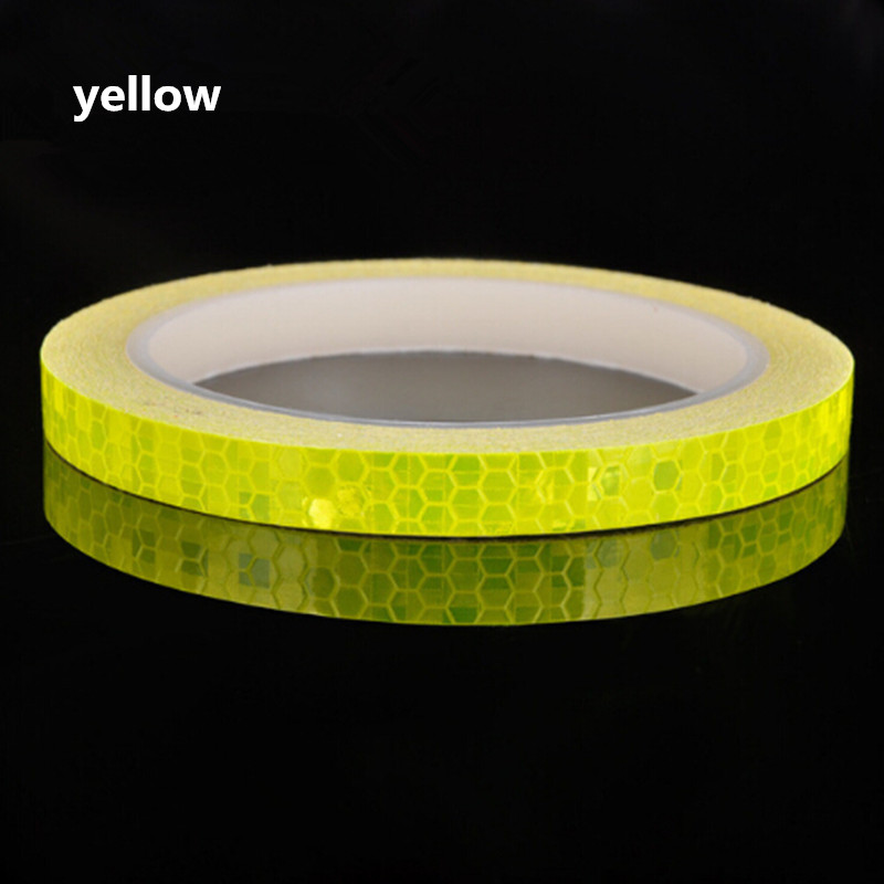 Reflective Tape Fluorescent MTB Bike Bicycle Cycling MTB Reflective Stickers Adhesive Tape Bike Stickers Bicycle Accessories in Bicycle Stickers from Sports Entertainment