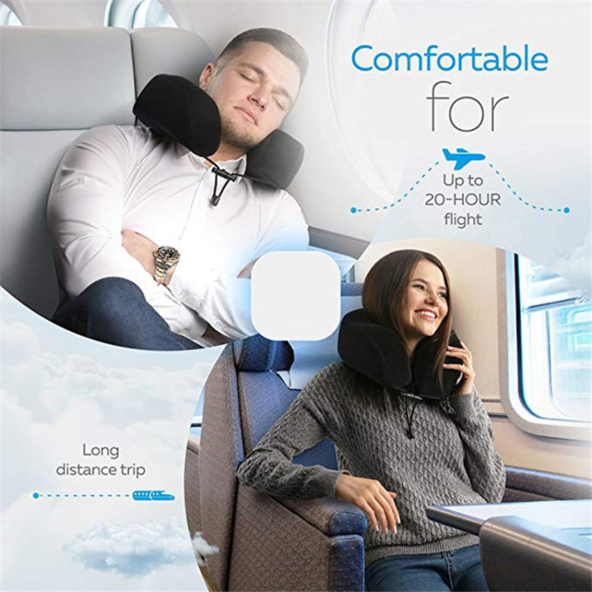 Image 5 - Travel U Shaped Pillow Memory Foam Neck Soft Slow Rebound Space Pillow Solid Neck Cervical Healthcare Bedding Drop Shipping-in Travel Pillows from Home & Garden