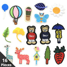 Cartoon Patches for Clothing Embroidery Iron on Patch Stickers Mini Children Cloth Applications Stripe DIY Accessories Badges(China)