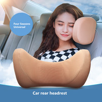 Memory Cotton Car Headrest U Shape Pillow Breathable Auto Interior Seat Neck Rest Support Protector For Audi Back Seat Pillows