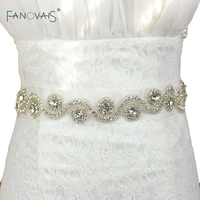 Fashion shiny white bridal belts with crystals beads rhinestones wedding belts 2016.jpg 200x200