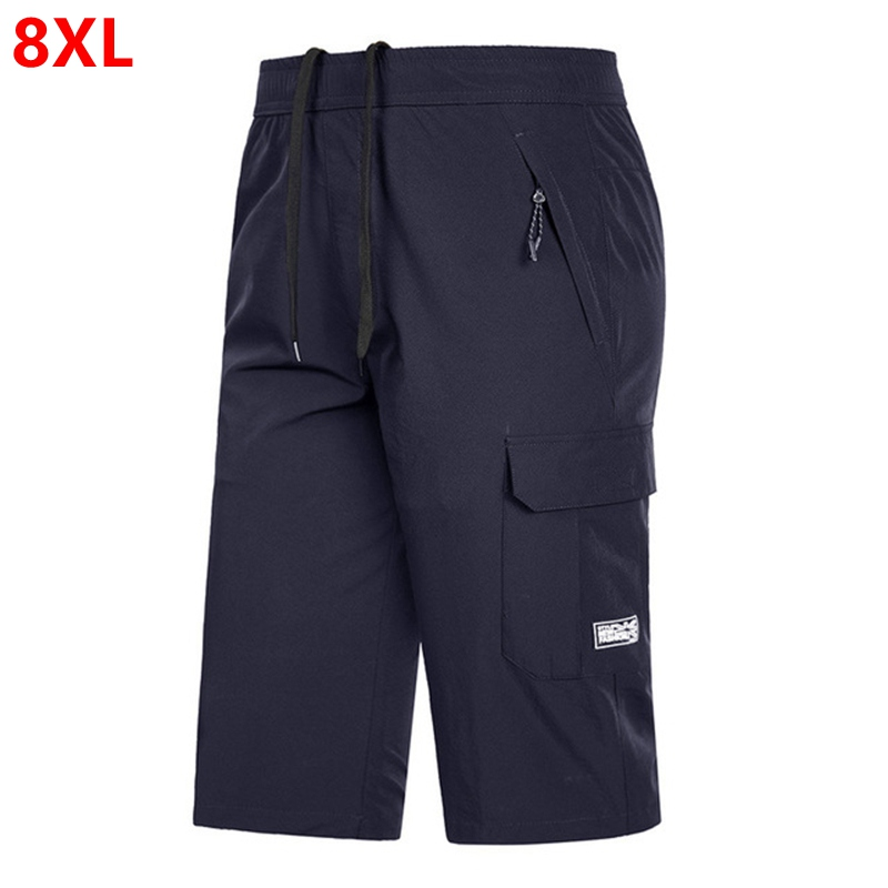 New men's casual sports cropped trousers plus size quick-drying cropped trousers   Board     Shorts
