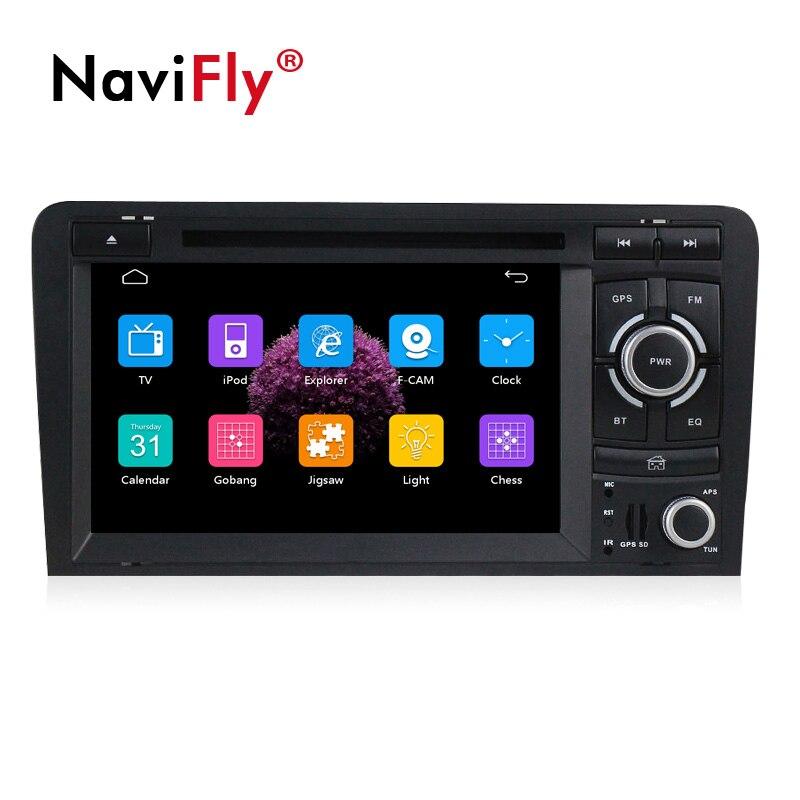 NaviFly автомобильный dvd плеер с двумя цифровыми входами радио аудио для AUDI A3 S3 RS3 2003 2013 с автомобиля gps навигации Мультимедиа видеокамера BT 1080 P A3