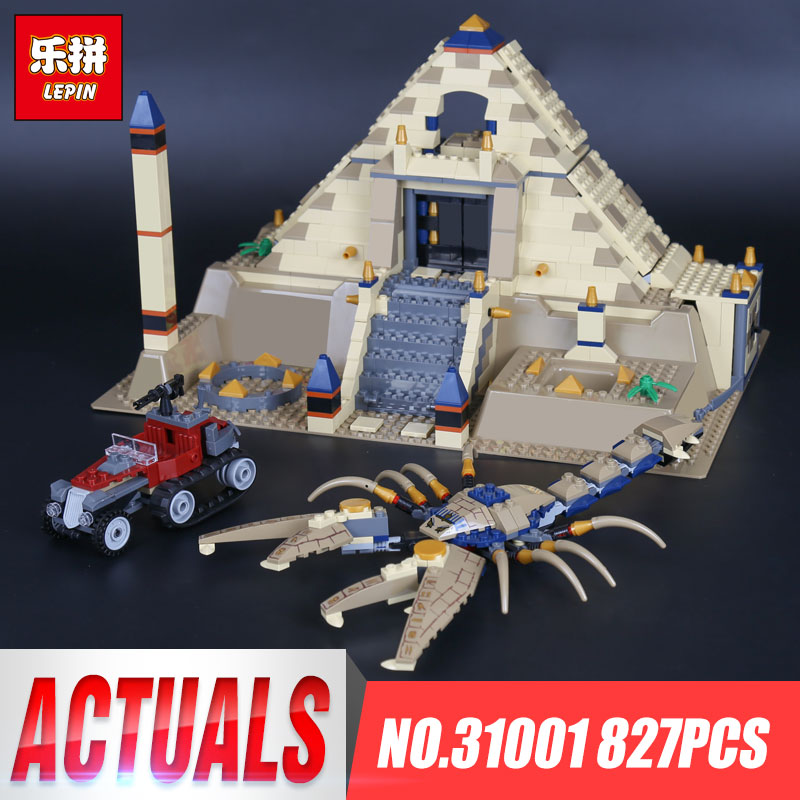 купить Lepin 31001 Egypt Pharaoh Series The Scorpion Pyramid 827Pcs Children Educational Building Blocks Bricks Toys Model Gifts 7327 по цене 3080.1 рублей