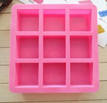 цена на DIY Rectangle Cold soap mold food grade silicone mold soap making outlet 600g