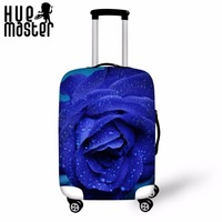 Case Cover Travel Accessories Suitcase Protective Covers Elasticity Luggage Covers Rose Leaves Male Female Suitcase Dust