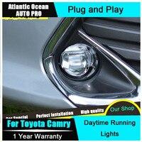 AUTO PRO 2015 For Toyota Camry LED fog lights LED DRL Car Styling Camry LED Daytime Running Light LED driving lights Fog lamps