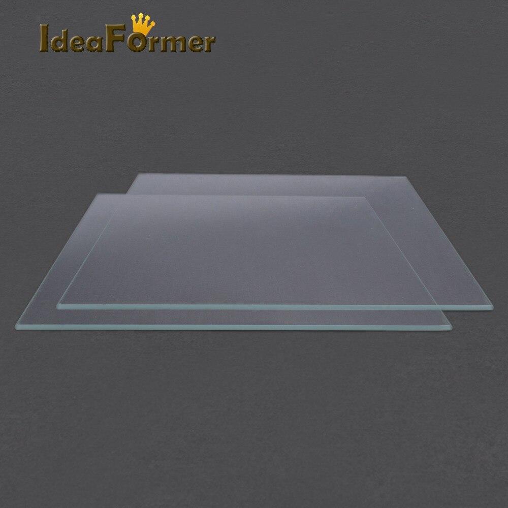 Acessórios Da Impressora Reprap 3D MK2 Cama Aquecida 1 pcs 3D peças de Impressora Placa De Vidro De Borosilicato temperado vidro de boa qualidade