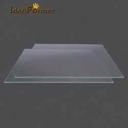 Acessórios da impressora 3d reprap mk2 cama aquecida placa de vidro borosilicato temperado 1 peças de impressora 3d vidro em boa qualidade