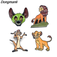 DMLSKY The Lion King Cute Brooch Metal Enamel Pin Women and Men Fashion Brooches Clothes badge Shirt Collar Pins M2962
