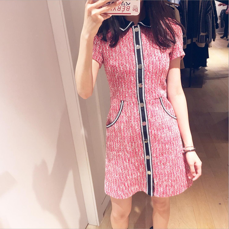 Women Dress 2019 Spring and Summer Short sleeved Dress