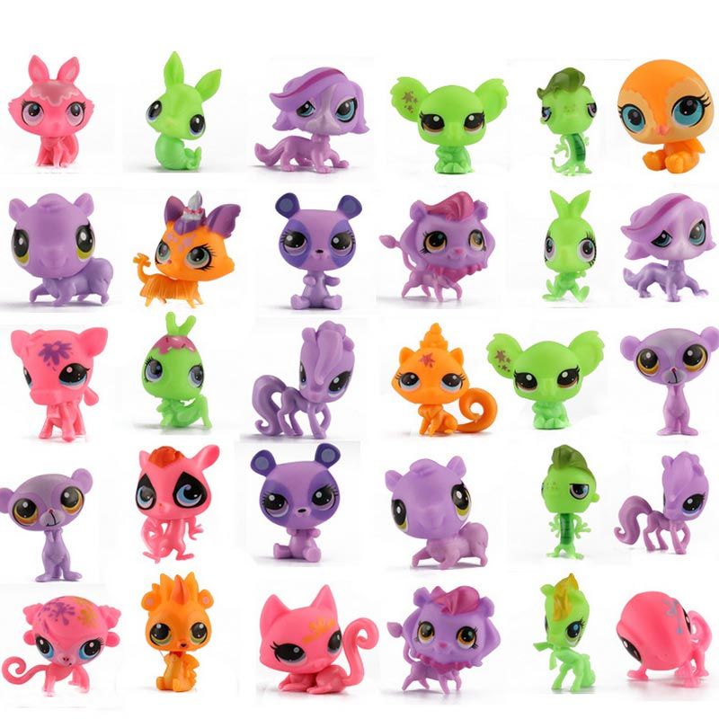 HOTSALE Mini Vinyl Doll <font><b>little</b></font> pet Q Mini anim Dolls Strange Animal kids Action Toy Capsule Model Suction <font><b>Cup</b></font> Puppets 20 Pcs/lot