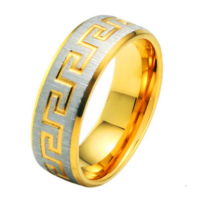 Aliexpress Buy Gold Color Ring for Man and Woman Stainless