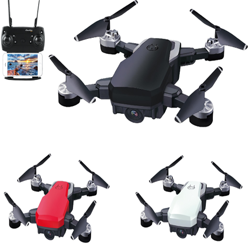 New Rc Helicopter Drones With Camera Hd 1080p Wifi Fpv Rc Drone Professional Foldable Quadcopter Battery Life Birthday Gift