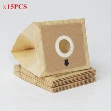 15 adet Genel elektrikli süpürge toz kağıt çanta 100*110mm Çap 50mm elektrikli süpürge aksesuarları parçaları