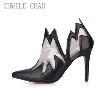 4c350c21 CHMILE CHAU negro Sexy de fiesta Zapatos de Mujer punta estrecha del  estilete de los tacones altos fina de moda botas de tobillo de Damas Zapatos  Mujer ...