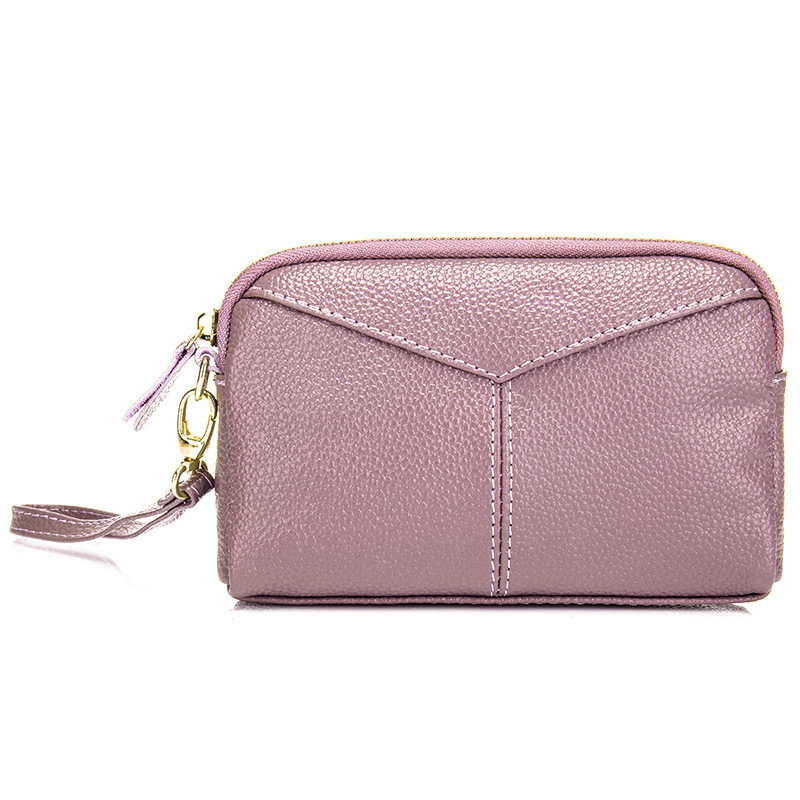 Pearl Simple Fashion Women Clutch Bags Cowhide Hand Bag For Girls Lady Designer Mobile Phone Pouch Change Purse Bolsa Feminina Refreshment