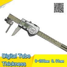 Cheaper SHAHE Tube Thickness Digital Caliper 0-200mm/0.01 stainless steel caliper vernier digital Electronic Caliper