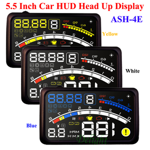 Image 4 - ActiSafety ASH 4E 5.5 インチ車 OBD2 II EUOBD 車 Hud ヘッドアップディスプレイブラケット車の速度超過警告システム 4E HUD 車