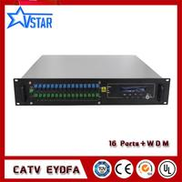 1310/1550nm EYDFA 2U 16 ports indoor rack EDFA fiber amplifiers FTTH JDSU pump