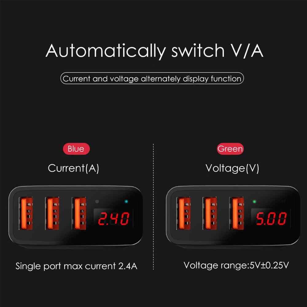 الذكية 3.4A سريعة شاحن USB الهاتف بطارية محول الشحن المحمول QC جدار قابس كهرباء للسفر شاشة LED لباد فون سامسونج