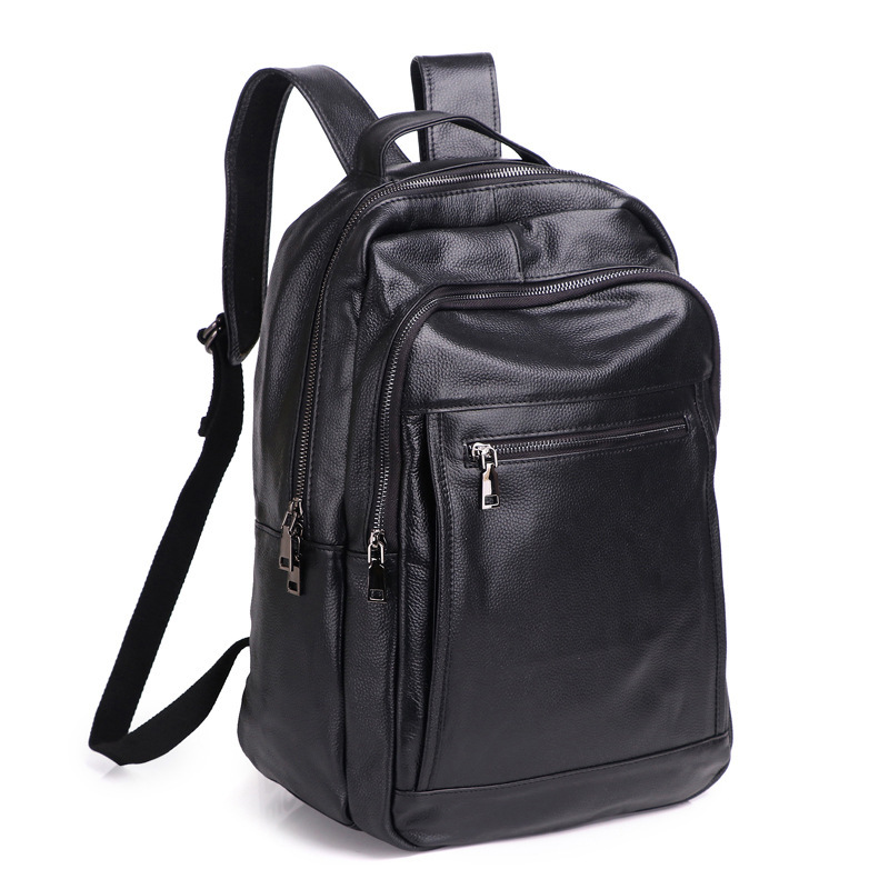 New Brand 100% Genuine Leather Men Backpacks Fashion Real Natural Leather Student Backpack Boy Luxury Lager Computer Laptop Bag