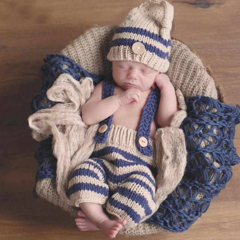 Bebé recién nacido Niños Niñas fotografía Tejidos crochet traje ...