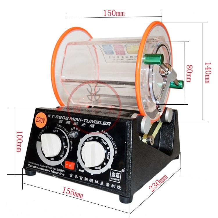 Trasporto Libero capacità 3 kg Rotary Tumbler gioielli macchina di lucidatura lucidatore rotary di finitura