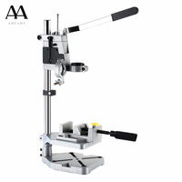 AMYAMY NEW style Electric Drill Bench power Drill Press Stand with Vise cast iron base Drill Stand Rotary Tool Work Station