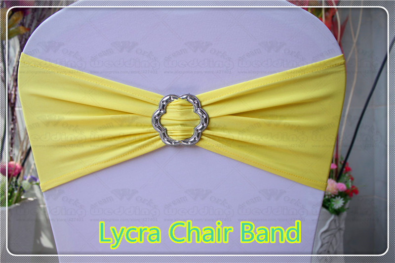 2 2 With Rose Buckle Spandex Lycra Expand Bands Chair