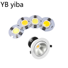 YB yiba 6PCS/Lot LED COB chip 220v  Light bulbs 3W 5W 7W 9W Lenses for leds Smart IC Drive DIY Outdoor Spotlight Free shipping