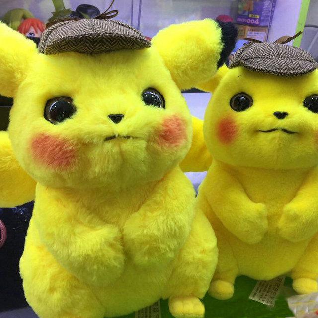 Pikachu Detective Plush Toy Jigglypuff Poliwhirl Charmander Gengar Toys