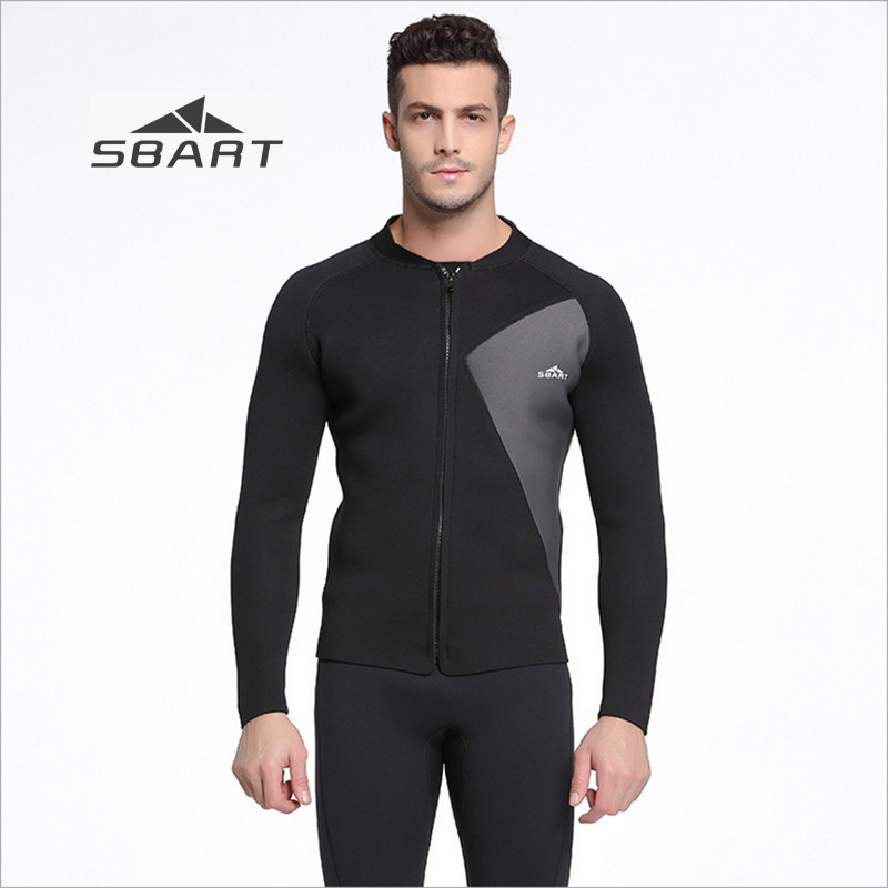 Sbart New 3mm Wetsuit Men Jacket Black Winter Swimming Tops Long Sleeve Rash Guard for Snorkeling Surfing Scuba Diving EquipmentSbart New 3mm Wetsuit Men Jacket Black Winter Swimming Tops Long Sleeve Rash Guard for Snorkeling Surfing Scuba Diving Equipment