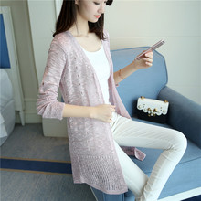 fashions Diaojia new spring and summer time within the lengthy gap skinny sweater slim gown cardigan sunscreen clothes F1696