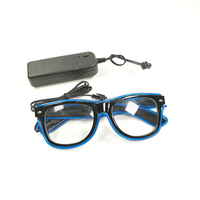 High quality Wholesale EL Wire Glowing Glasses 20pieces neon light Sunglasses 3V Steady on Inverter Holiday Glow Party Supplies