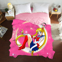 Luxury 3D Summer Quilts twin full queen Blankets fashion cartoon Bed Cover Children Adults kids duvet pink anime soft Comforters