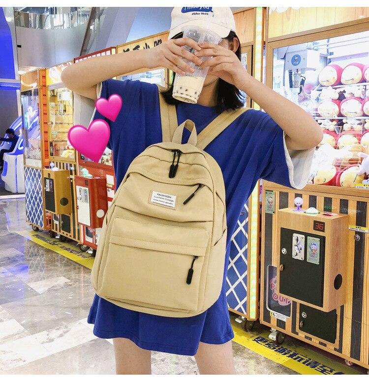 HTB1gMw5cRWD3KVjSZFsq6AqkpXac 2019 New Backpack Women Backpack Fashion Women Shoulder nylon bag school bagpack for teenage girls mochila mujer