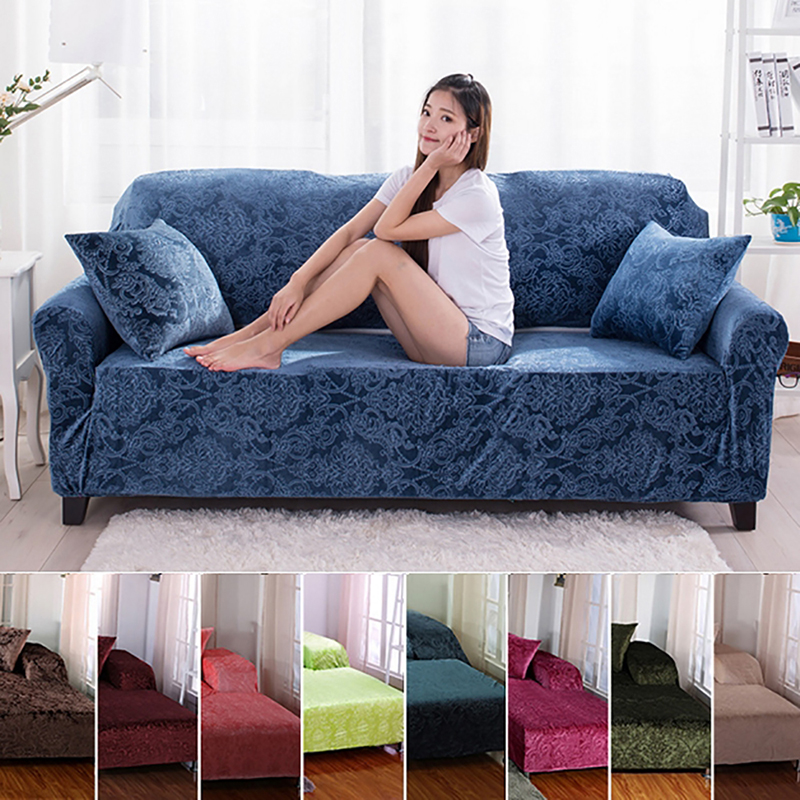 5 Colors Full cover jacquard elastic sofa cover single double 3 bit 4 seat tightly wrapped