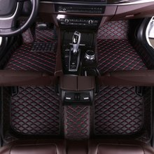 цена на custom car floor mats For Hyundai ix35 2010 2011 2012 2013 2014 2015 2016 2017 interior auto accessories car mats leather Black