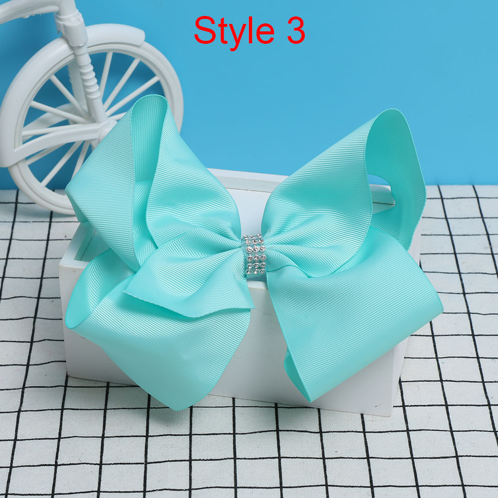 8 Inch Large Colorful Bow Hair Clip Big Bowknot Hairpins girl barrettes jojo Hair Accessories 2017 Newest 2017 newest big bowknot hairpins 8 inch girl barrette large colorful bow hair clip jojo hair accessories