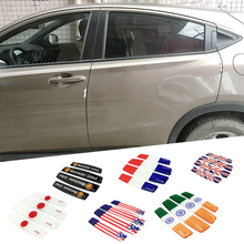 4pcs crystal plastic door anti-collision strip auto supplies car general rubber anti-scratch protection stickers parts
