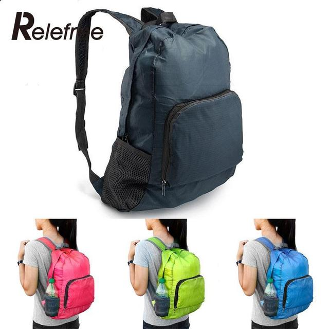4d75220b29a7 Outdoor Sports Cycling Bicycle Polyester Waterproof Foldable Backpack  Hiking Bag Camping Mountaineering Climbing Travel Rucksack