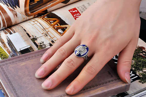 Couples Rings Bijouterie Vampire Diaries Salvatore Damon Stefan finger Family Crest RING for Man or Woman Gift Ring wholesale#25