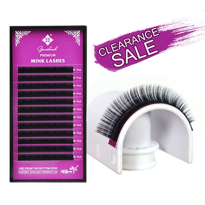 Genielash grande venda individual cílios extensão falso volume cílios extensões premium vison cílios maquiagem profissional cílios