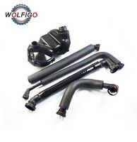 WOLFIGO 5pcs PCV Crankcase Vent Valve Breather Hose & Cover Gasket Set Kit for BMW E46 325i 330i 325Xi 11617501566 11617504535