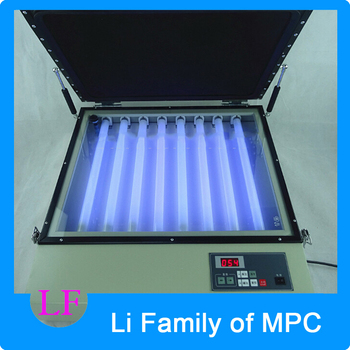 Ultraviolet UV Lithographic Solidification Exposure Machine 160W Vacuum Frame Silk Screen Printing Exposure Machine