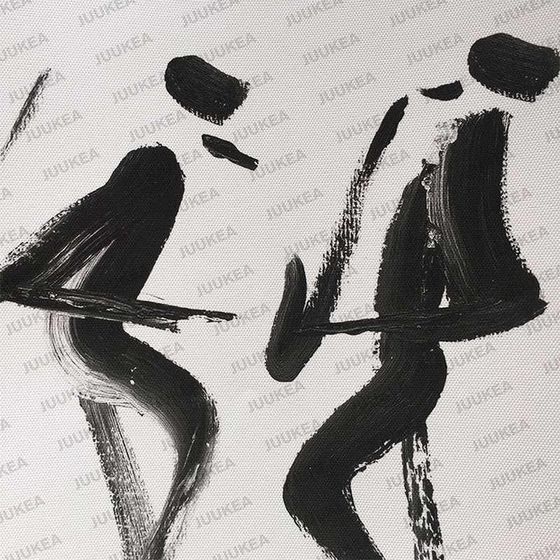 Minimalis Hitam Putih Mr Quote Musik A4 Poster Cetak Gambar Kanvas