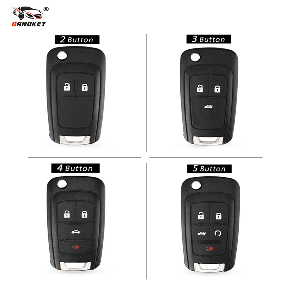 DANDKEY Flip Folding Remote Key Shell For Chevrolet Cruze Lova Sail Aveo Key Case With HU100 Blade 2/3/4/5 Buttons  DANDKEY Flip Folding Remote Key Shell For Chevrolet Cruze Lova Sail Aveo Key Case With HU100 Blade 2/3/4/5 Buttons