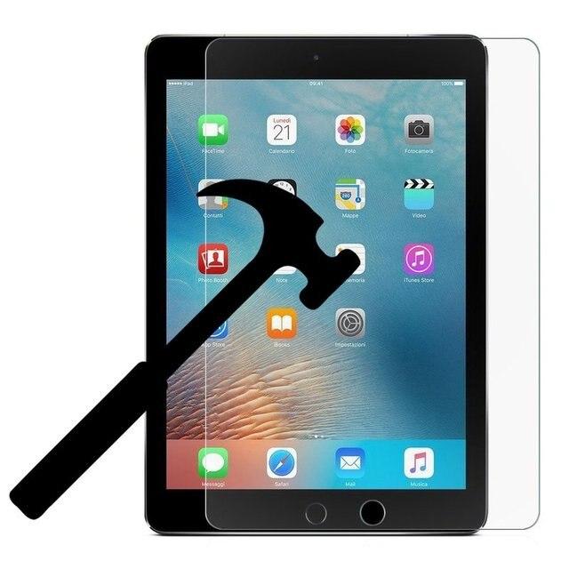 Tempered Glass Bảo Vệ Màn Hình Tablet Trường Hợp đối với Apple IPad 9.7 inch 2018 9.7 inch 2017 Bao Gồm Đầy Đủ cho I Pad glass Thông Minh Trường Hợp